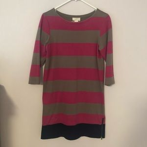 Ann Taylor Loft Striped Shift Dress